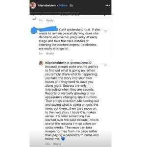 Hilaria Baldwin Pregnancy Clapback Instagram Story