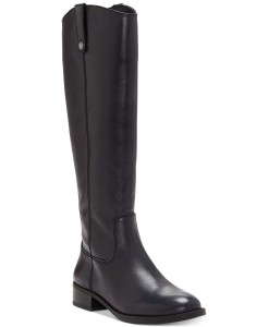 I.N.C. Fawne Wide-Calf Riding Boots Black