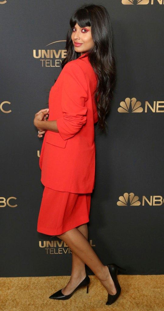 Jameela Jamil Dressed In Red