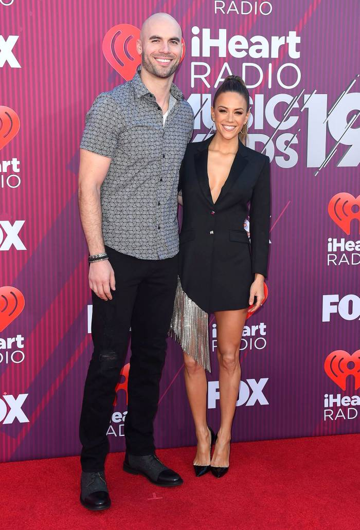 Mike Caussin and Jana Kramer 2019 iHeartRadio Music Awards
