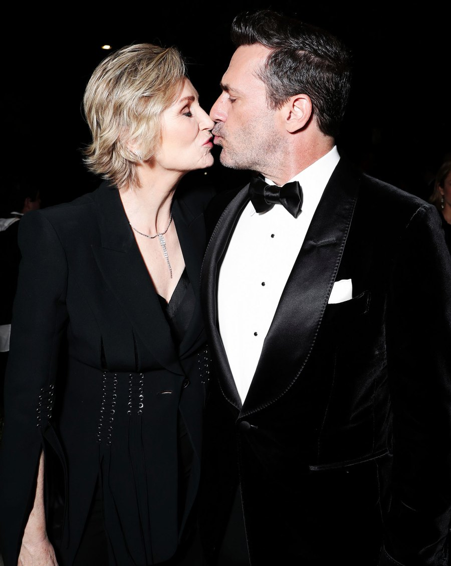 Jane Lynch and Jon Hamm Kissing Amazon Emmys 2019 After Party