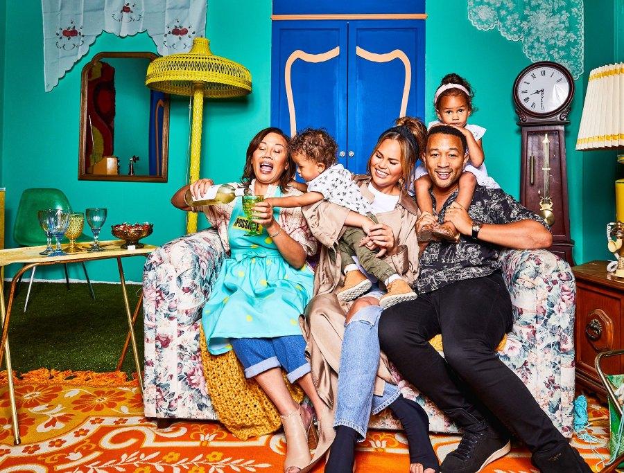 John Legend, family, Sitting on Couch Chrissy Teigen's Mom Vilailuck Teigen Will Cook Her Noodles at 2 AM