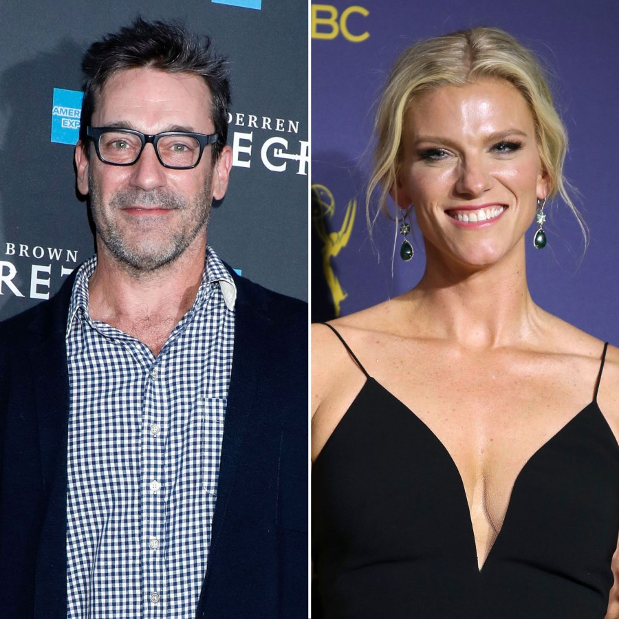 Jon Hamm and Lindsay Shookus Check Out Broadway Show