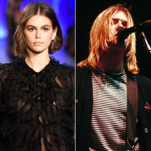 Kaia Gerber and Kurt Cobain
