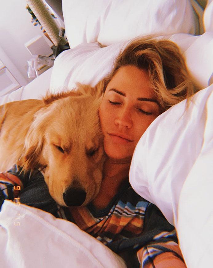 Kaitlyn Bristowe Rescue Dog Instagram Selfie