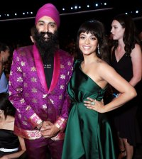 Kanwer Singh and Lilly Singh Inside Emmys 2019