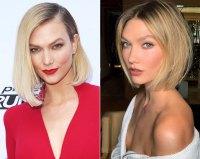 Karlie Kloss Hair Change Blunt-Cut Bob