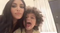 Kim Kardashian with Son Saint