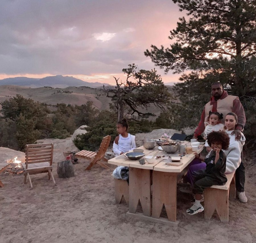 Kim Kardashian and Kanye West Enjoy Cookout With Their Kids During Wyoming Trip