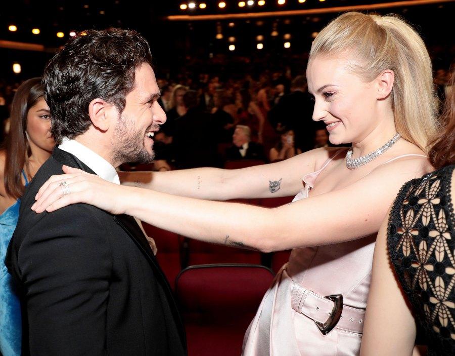 Kit Harington and Sophie Turner Inside Emmys 2019