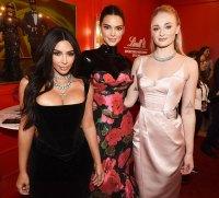Kim Kardashian Kendall Jenner and Sophie Turner Inside Emmys 2019