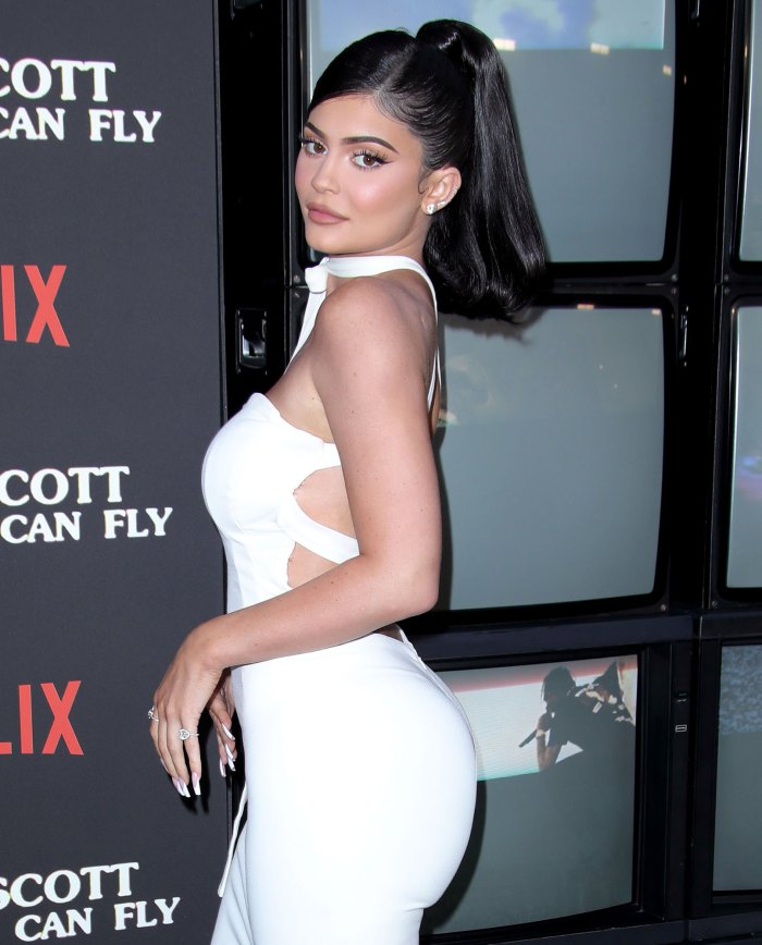 Kylie Jenner Amazing Abs White Dress