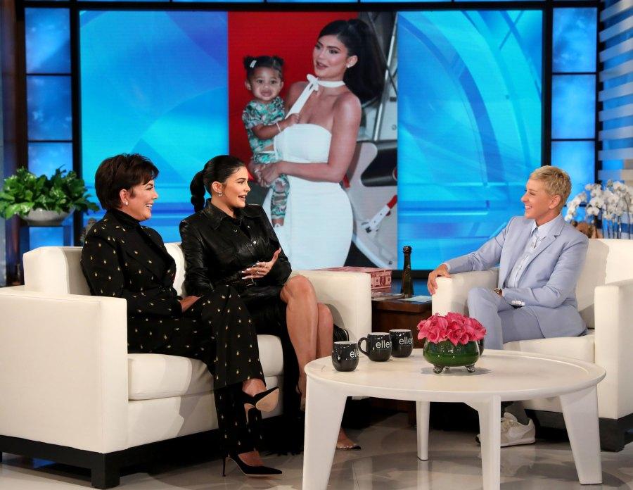 Kylie Jenner Kris Jenner Ellen DeGeneres Show