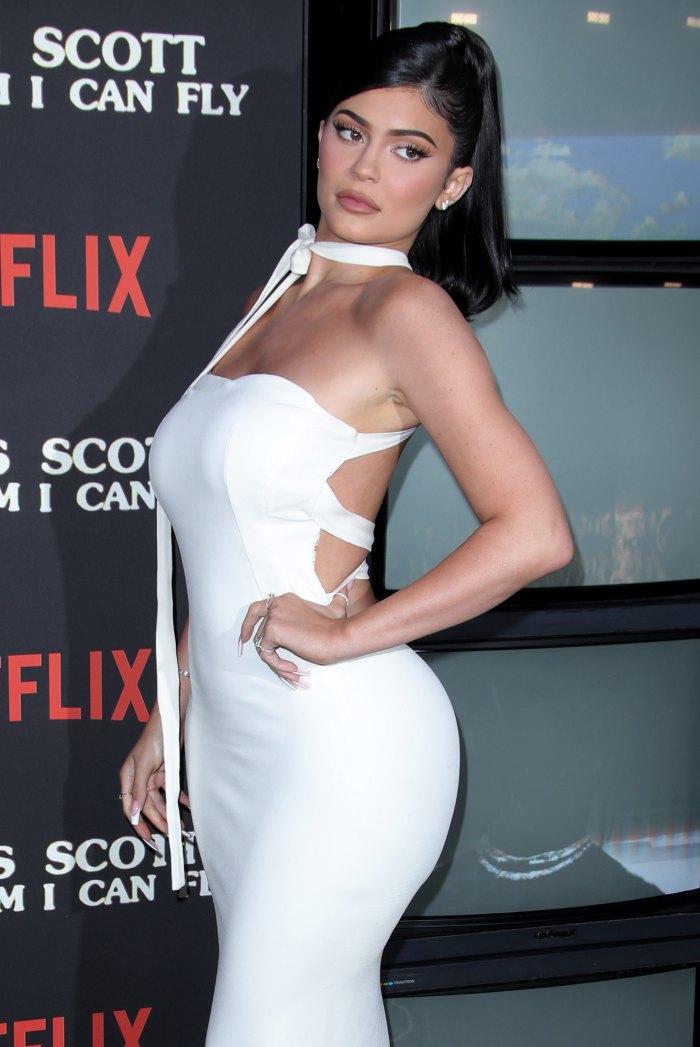 Kylie Jenner White Dress Netflix Film Premiere