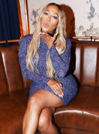 La La Anthony Blowing a Kiss Us Weekly Most Stylish Party