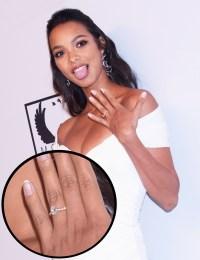 Lais Ribeiro Engagement Ring September 10, 2019