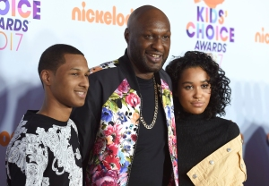 Lamar Odom with His Kids