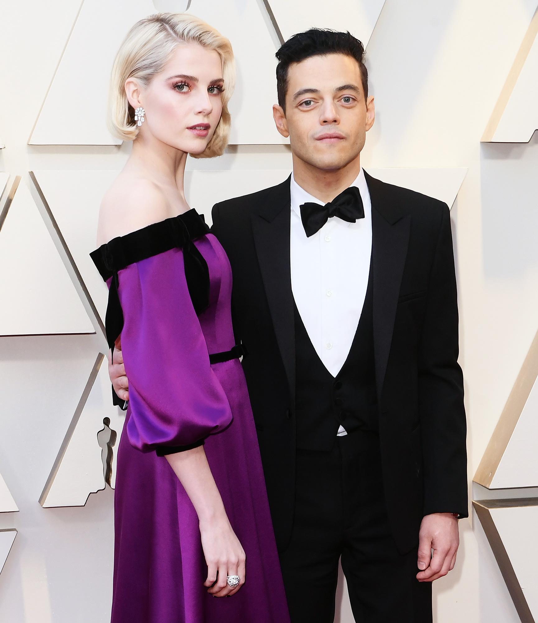 Lucy Boynton and Rami Malek at Oscars 2019