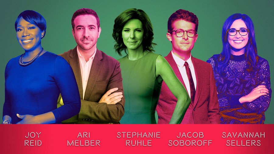 MSNBC News Team talent Multi Color