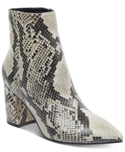 Marc Fisher Retire Booties Snake Multi