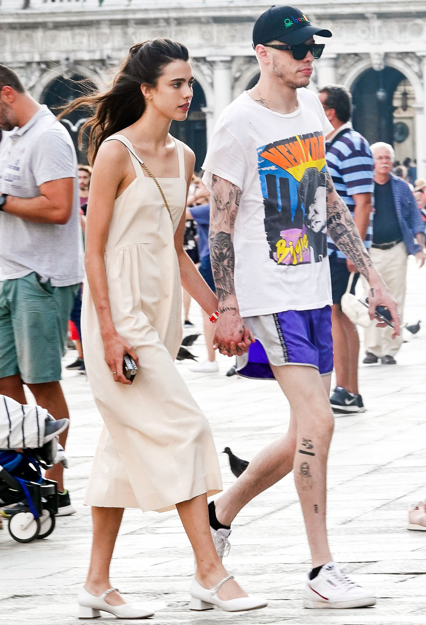 Margaret Qualley and Pete Davidson Holding Hands in Venice Very Happy Amid Romance