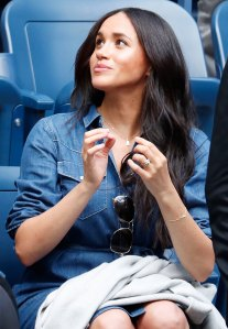 Meghan Markle Wears Prince Harry Initial Necklace at the U.S Open