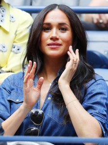 Meghan Markle Wears Prince Harry Initial Necklace at the U.S Open September 7, 2019