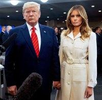 Melania Trump Beige Coat September 24, 2019