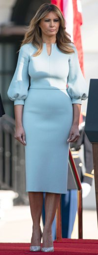 Melania Trump Blue Dress September 20, 2019