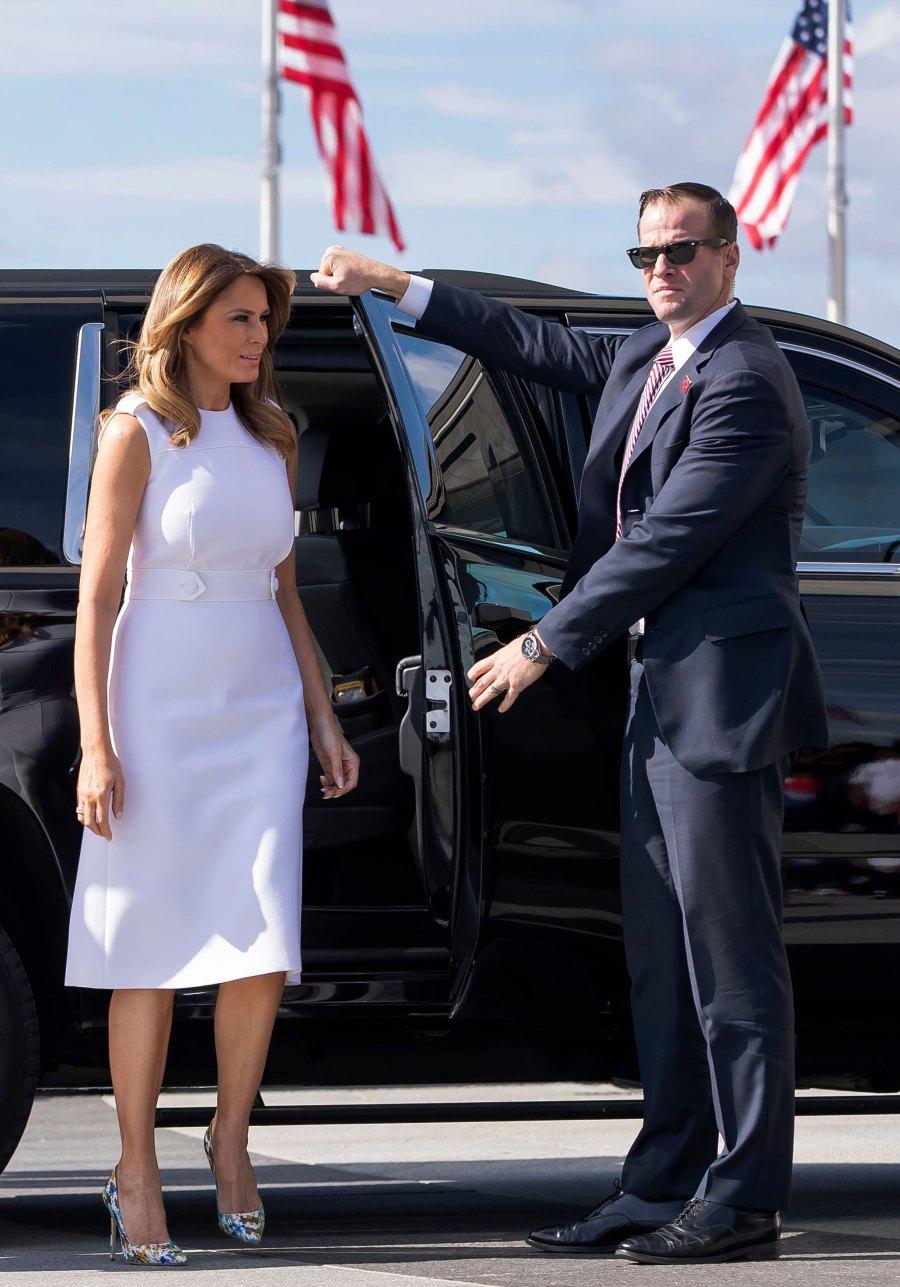 Melania Trump White Dress September 19, 2019