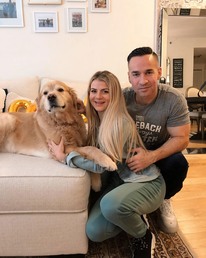 Mike 'The Situation' Sorrentino Shares Sweet Family Pic With Wife Lauren Sorrentino Petting Dog