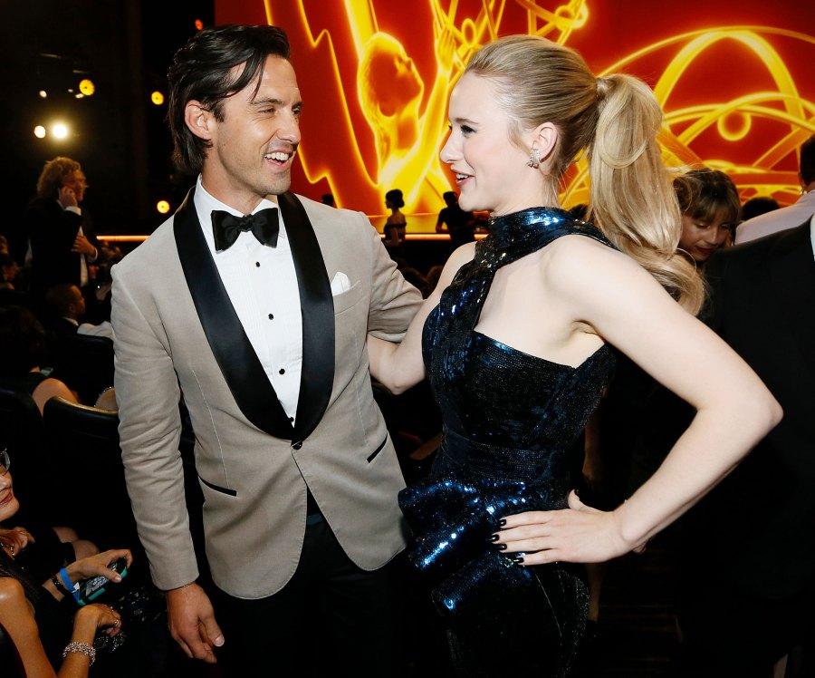 Milo Ventimiglia and Rachel Brosnahan Inside Emmys 2019