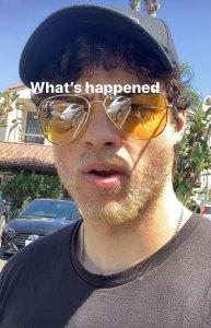 Noah Centineo Blonde Beard Instagram Story September 13, 2019