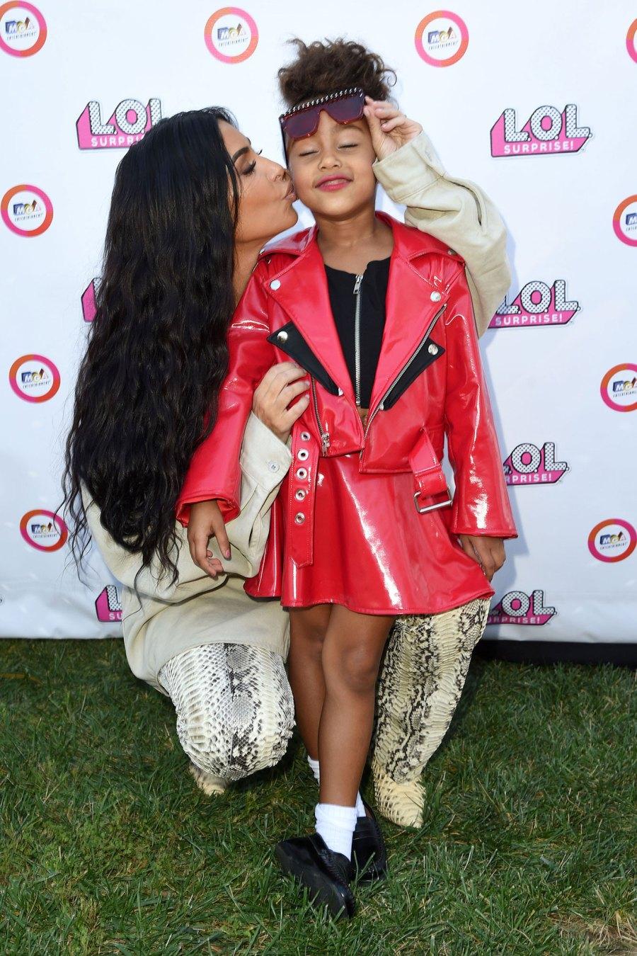 North West Red Lipstick and Kim Kardashian Fashion Show