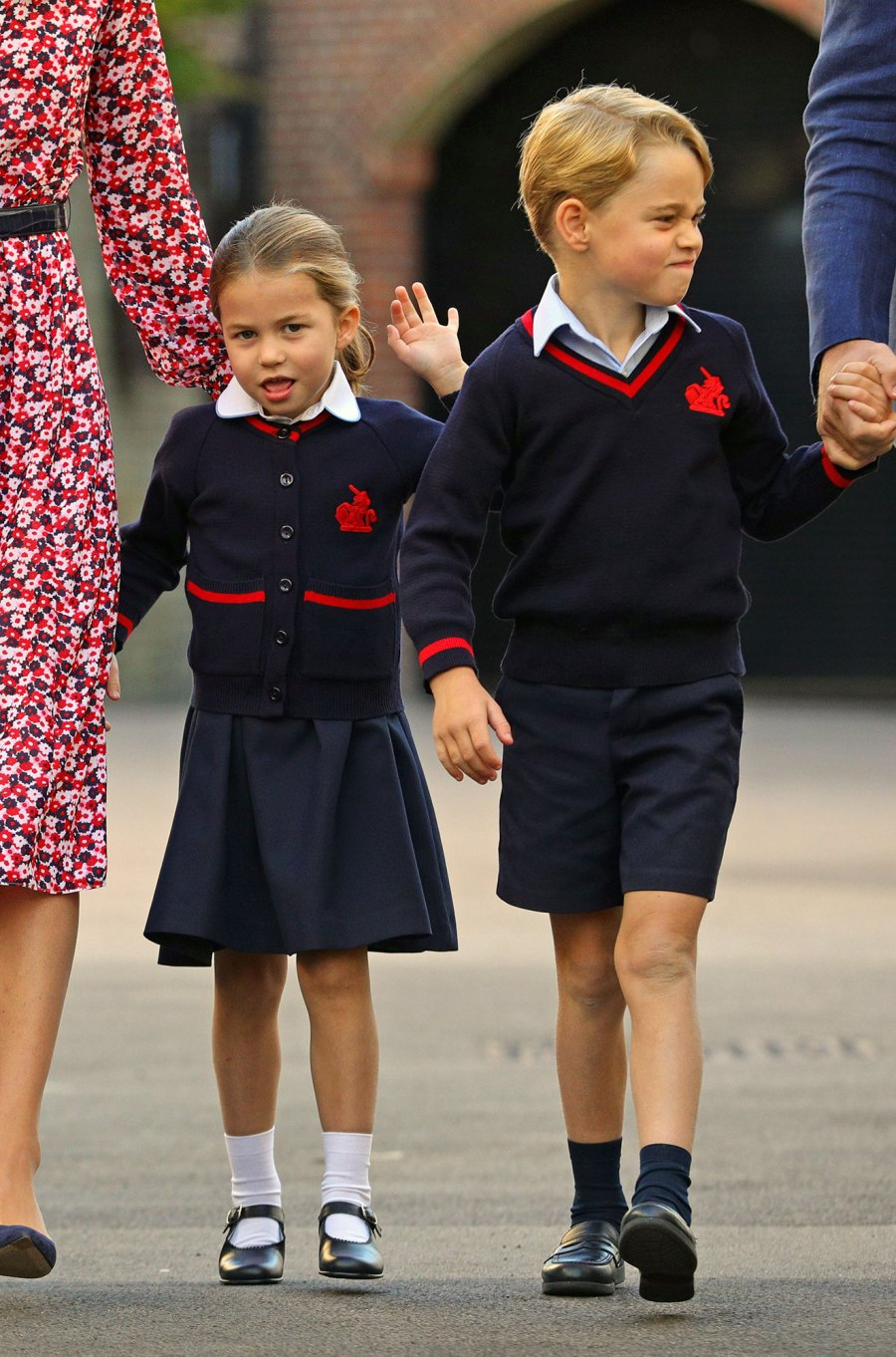 Prince-George-Grumpiest-Faces With Princess Charlotte First Day of School