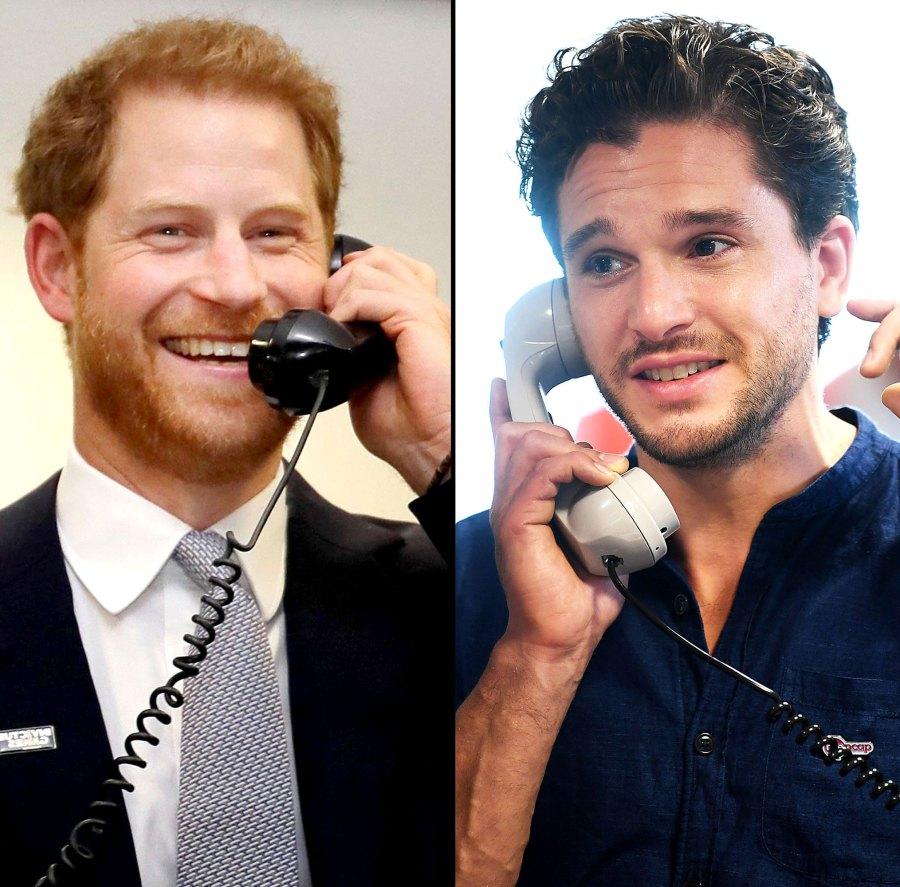 Prince Harry Kit Harington Answer Phones 9/11 Charity Event