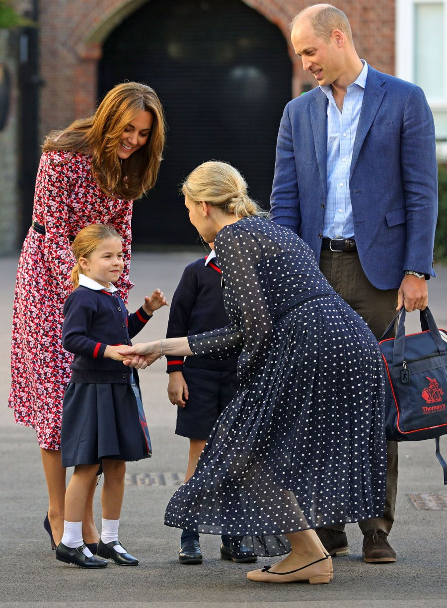 Princess Charlotte First Day of School With Prince George, Catherine Duchess of Cambridge, Prince William