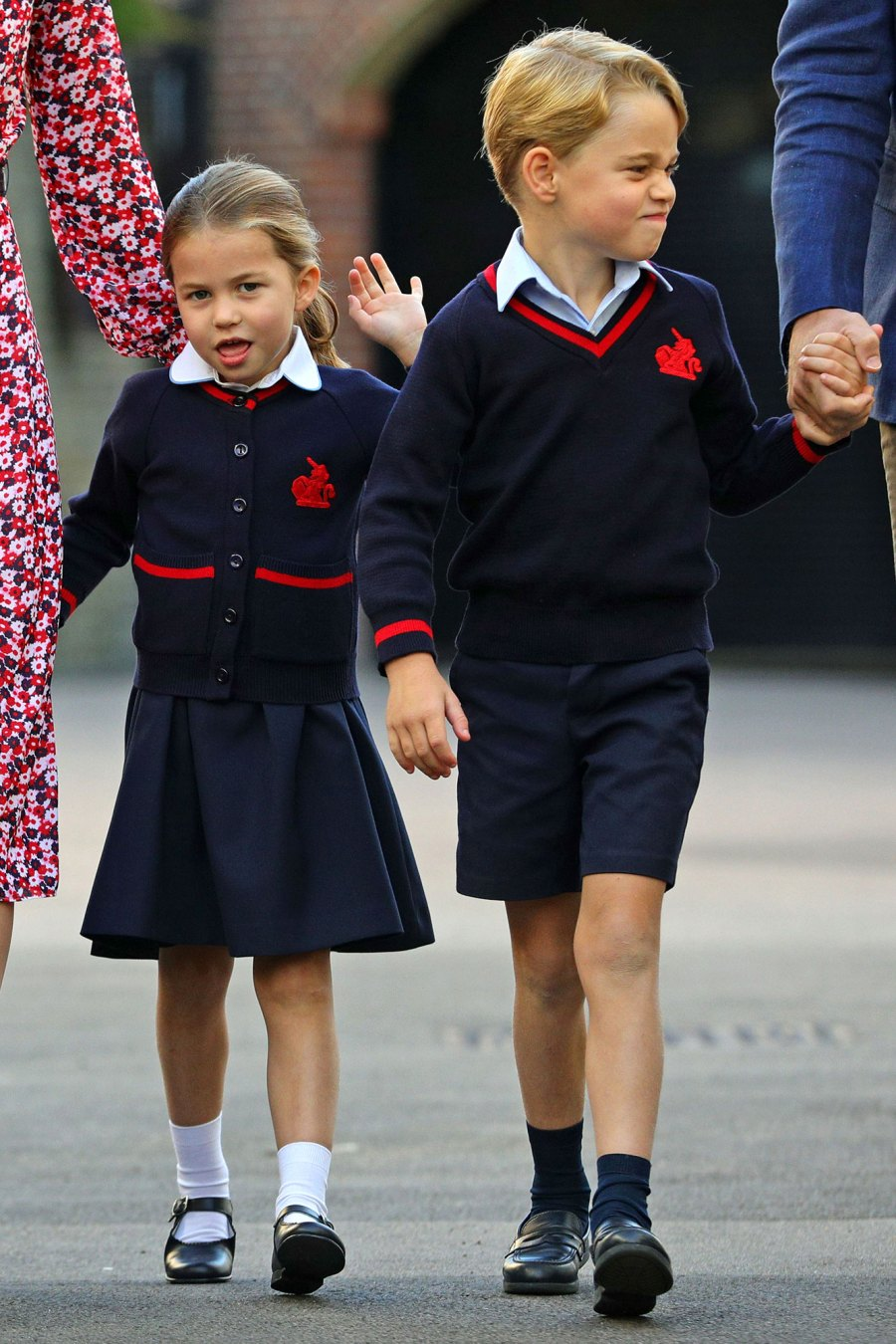 Princess Charlotte First Day of School With Prince George