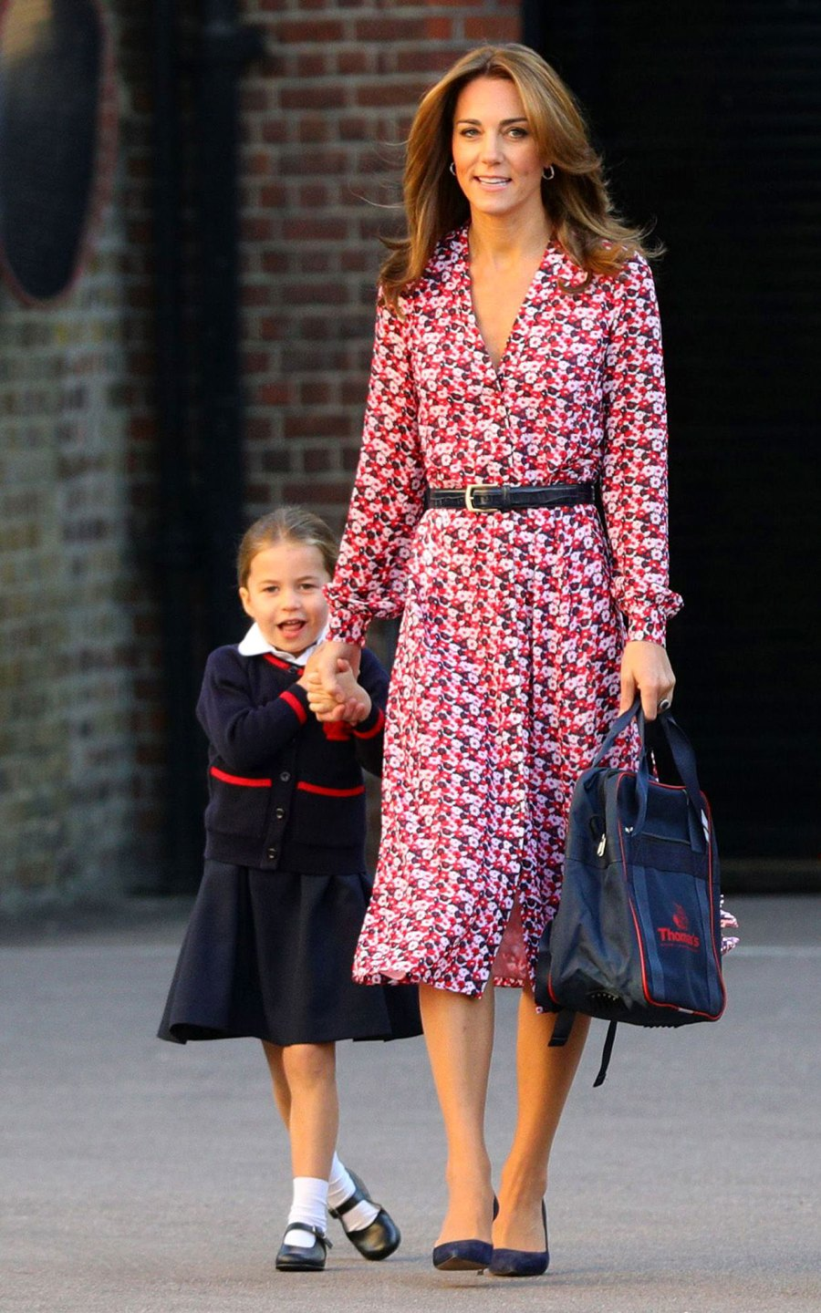 Princess Charlotte Shy First Day of School With Catherine Duchess of Cambridge