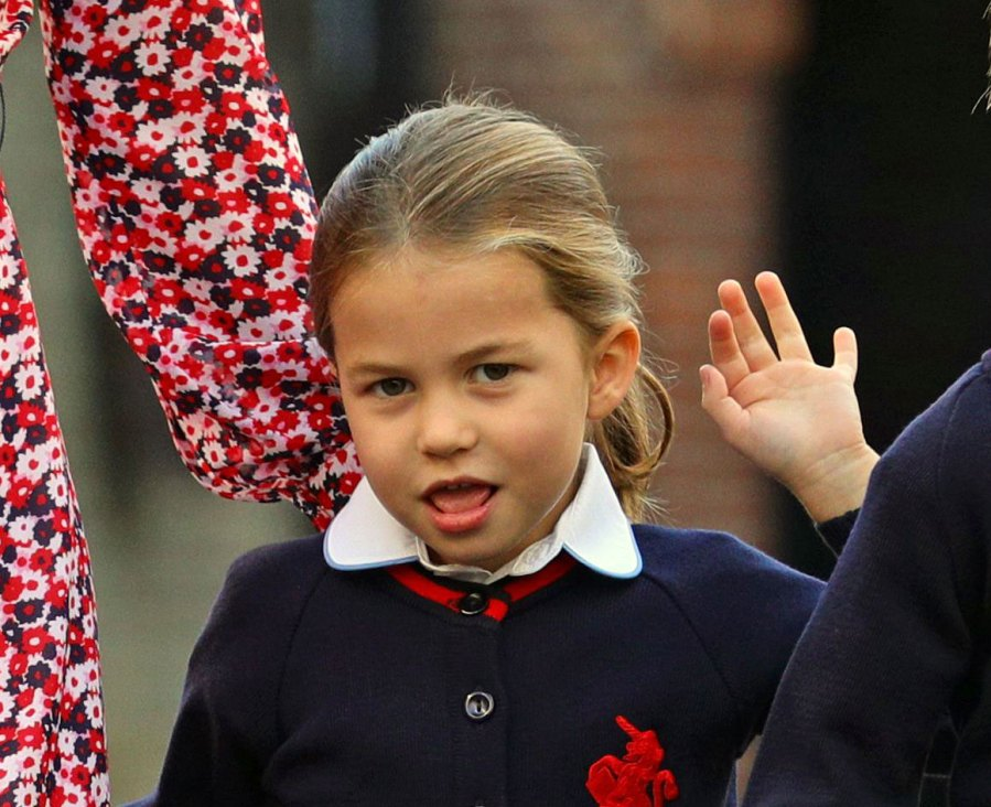 Princess-Charlotte-Sassiest-Faces Waving First Day of School