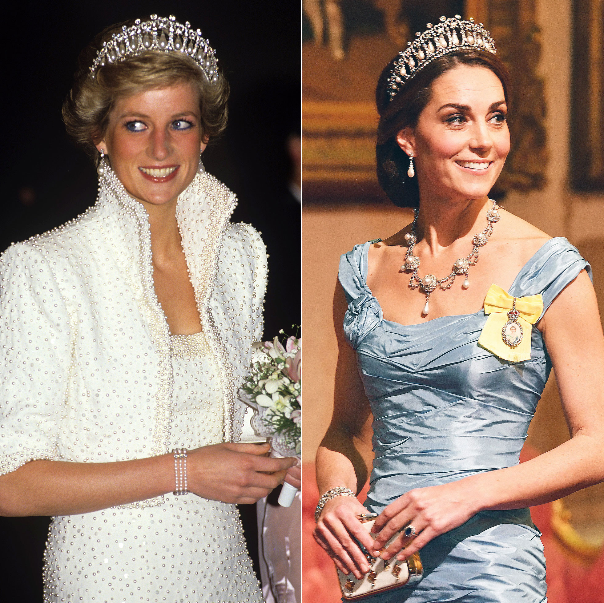 princess diana s jewelry worn by kate middleton meghan markle pics kate middleton meghan markle
