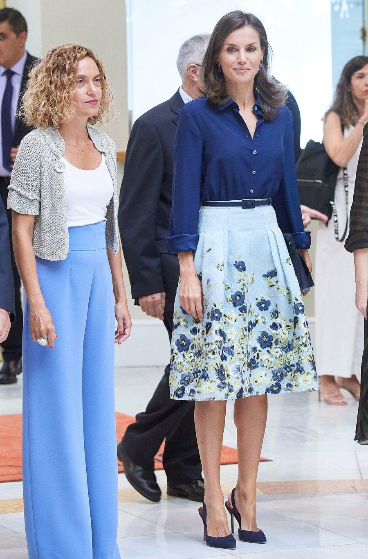 Queen Letizia Best Outfits Floral Skirt