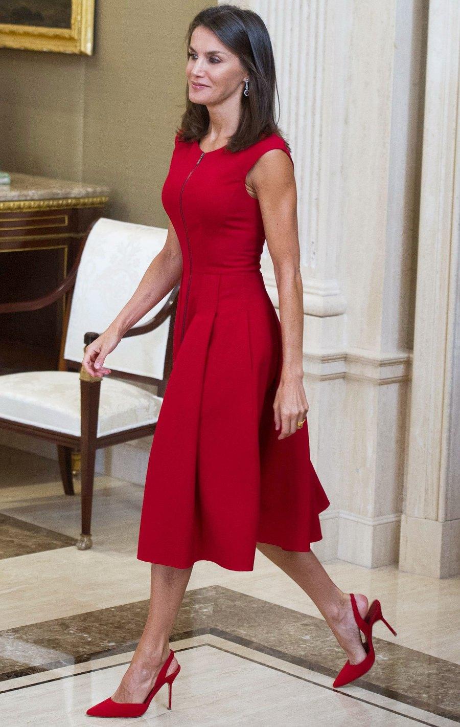 Queen Letizia Red Dress September 16, 2019