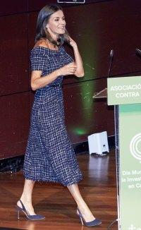 Queen Letizia Tweed Dress September 24, 2019