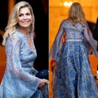 Queen Maxima Blue Gown September 11, 2019