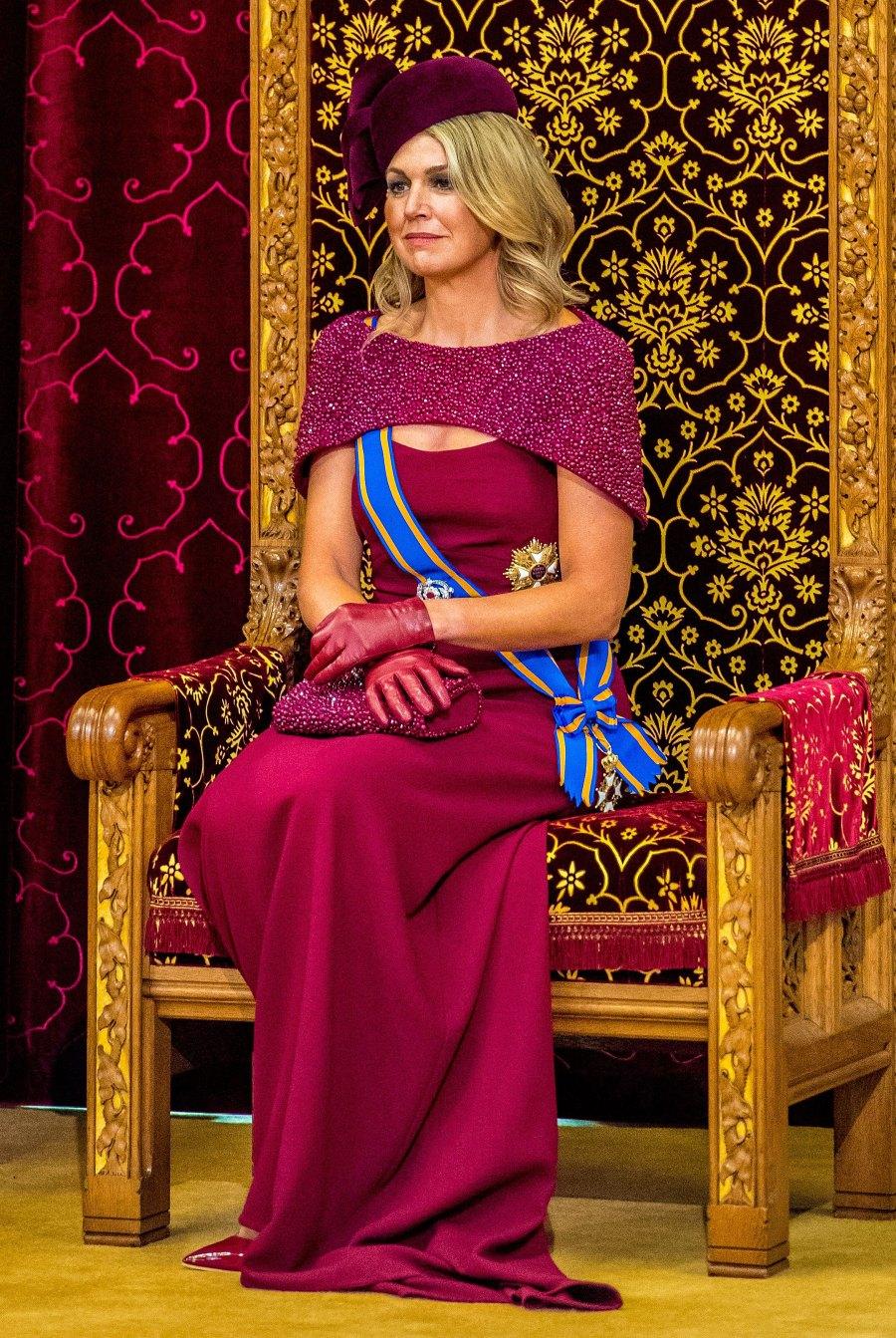 Queen Maxima Magenta Gown September 17, 2019