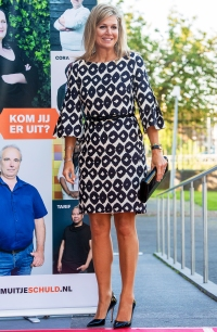 Queen Maxima Patterned Dress September 9, 2019