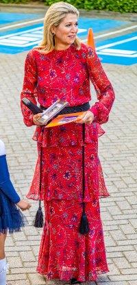 Queen Maxima Ruffled Dress September 18, 2019