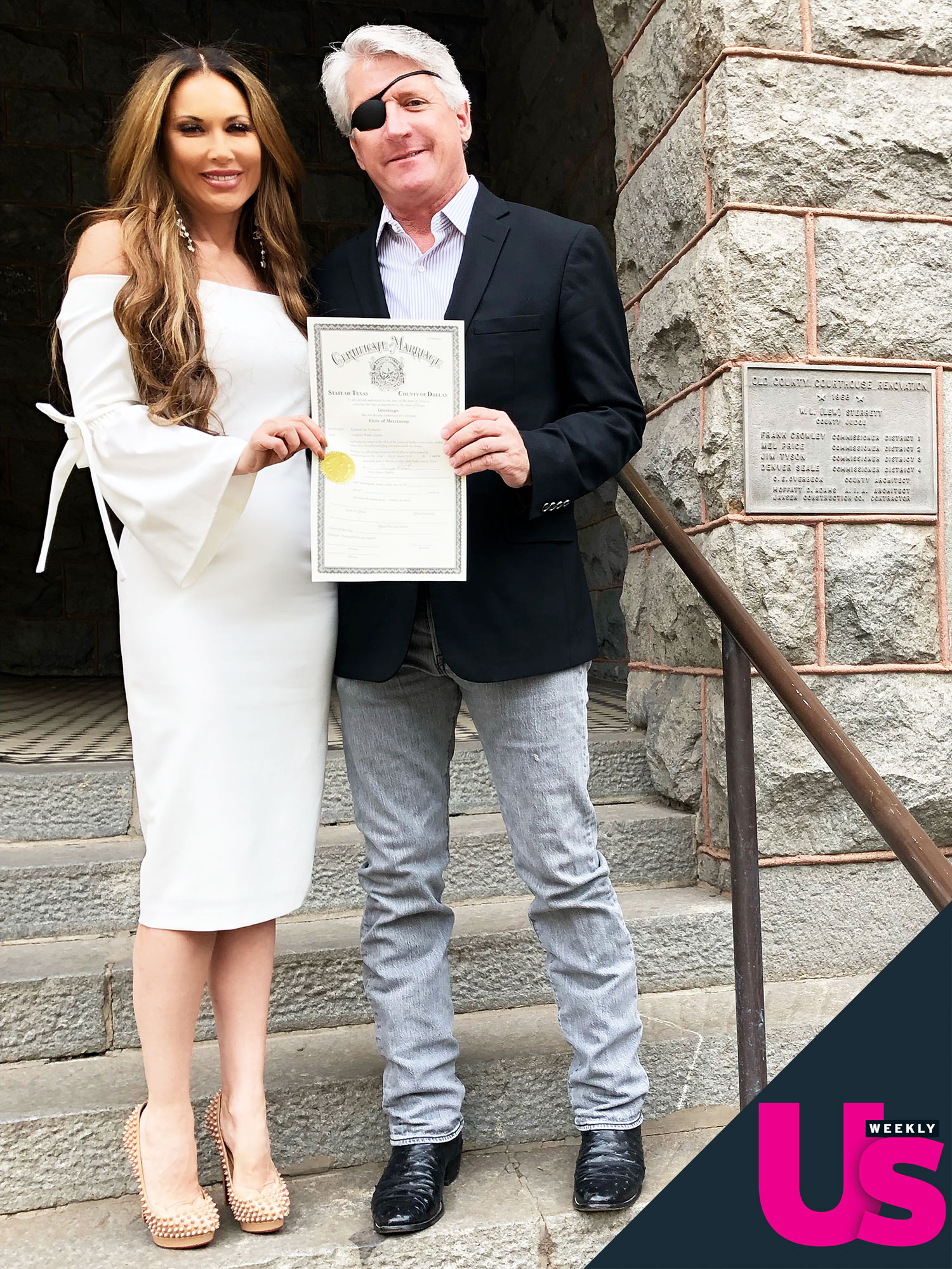 Real Housewives of Dallas Star Leeanne Locken and Rich Emberlin with Marriage License Admits She Fell Asleep During Sex on Wedding Night