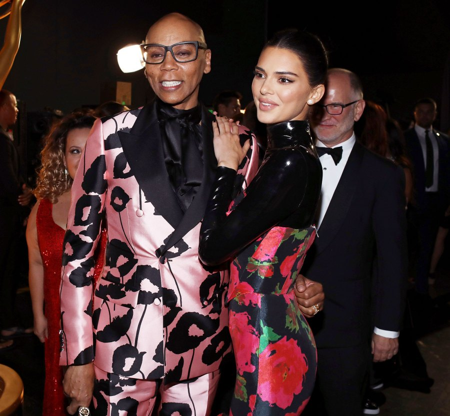 RuPaul and Kendall Jenner Inside Emmys 2019